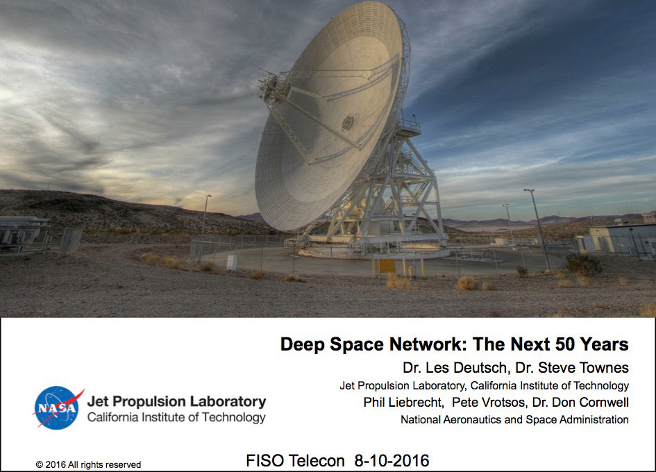NASA FISO Presentation: The Deep Space Network - The Next 50 Years