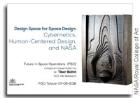 NASA FISO Presentation: Design Space for Space Design - Cybernetics, Human-Centered Design