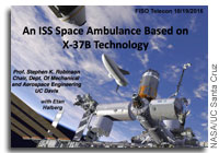NASA FISO Presentation: An ISS Space Ambulance Based on X-37B Technology