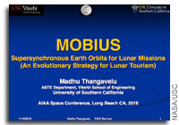 NASA Future In-Space Operations: MOBIUS - Supersynchronous Earth Orbits for Lunar Missions