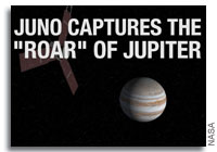 NASA's Juno spacecraft captures roar of Jupiter as it nears the gas giant