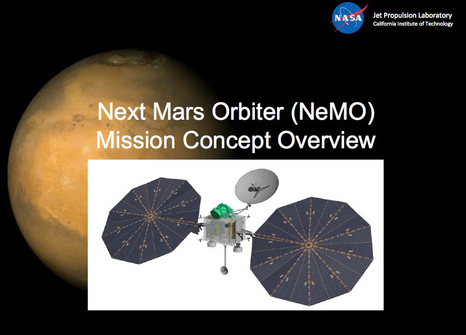 The CSA is Interested in Hosting a Sub-surface Ice Sounder on NASA's NeMO Orbiter