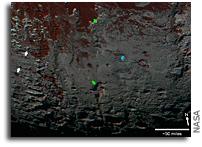 Pluto's Methane Snowcaps