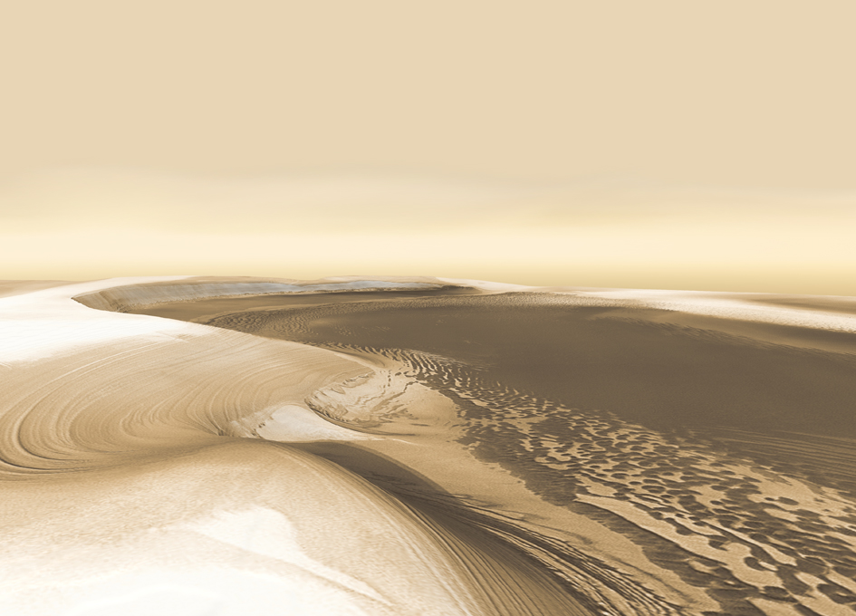 Record of Martian Ice Age Found in Mars' Polar Cap