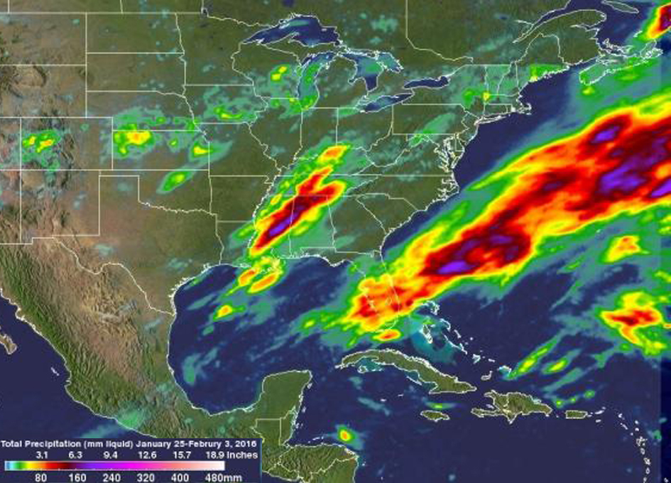 Measuring Ten Days of Extreme Precipitation From Space