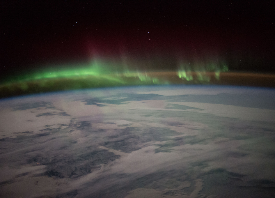Canadian Aurora Seen From Above