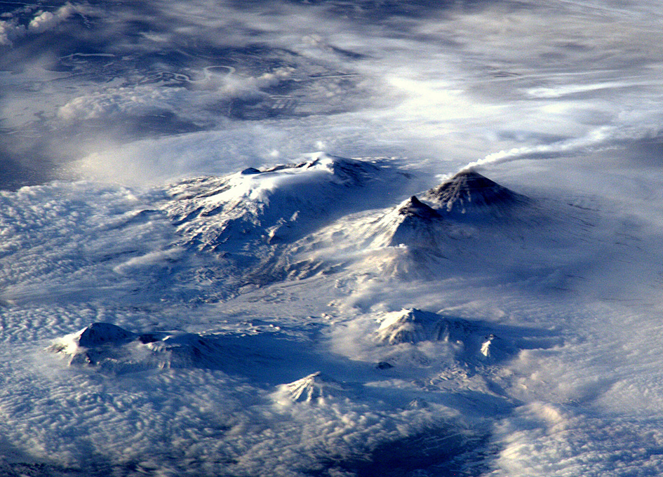 Smoking Russian Volcano Seen From Space