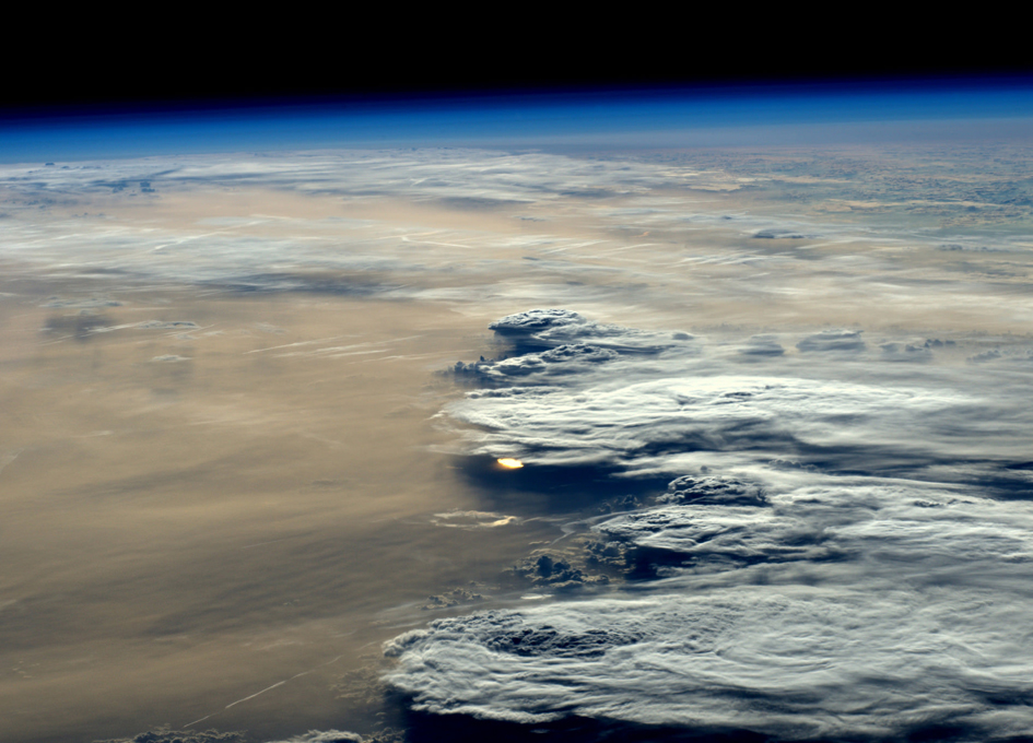 Stunning Early Evening View From Space