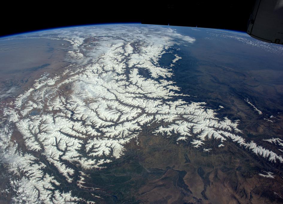An Orbital View of the Himalayas