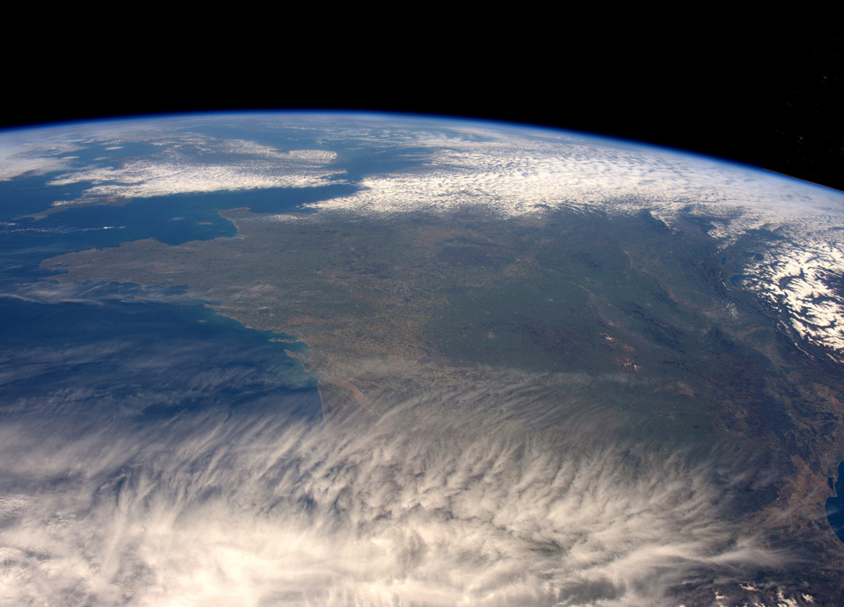 France As Seen From The International Space Station