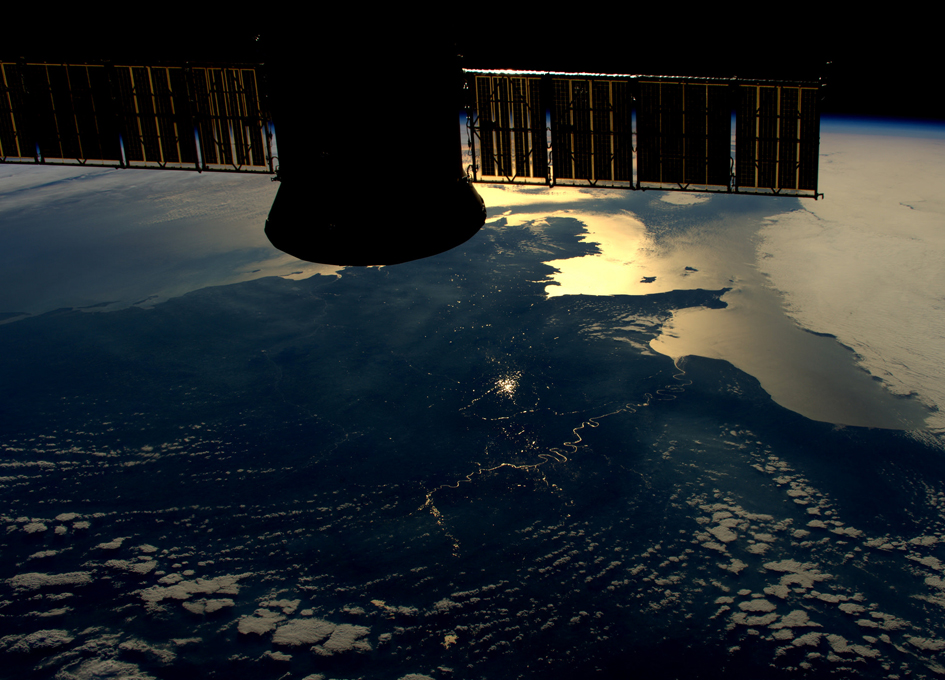 Late Afternoon View of La Seine From Orbit