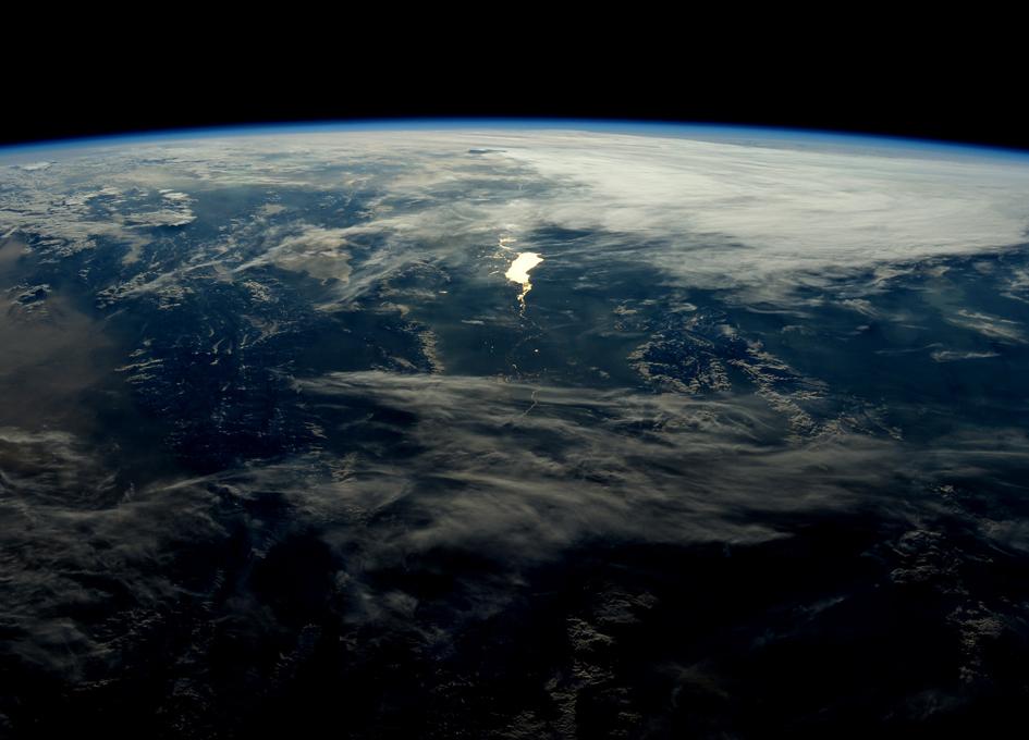 An Orbital Sunset Over The Himalayas