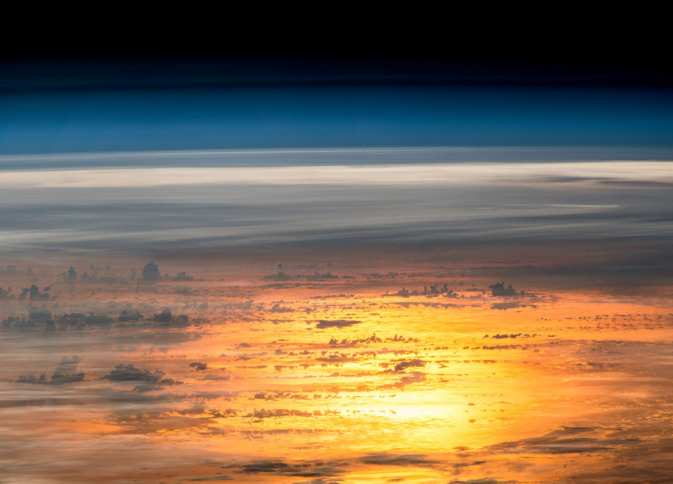 An Orbital Sunset Seen From the International Space Station