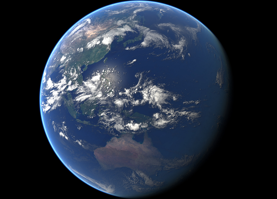 Convection Over Indonesia As Seen From Space