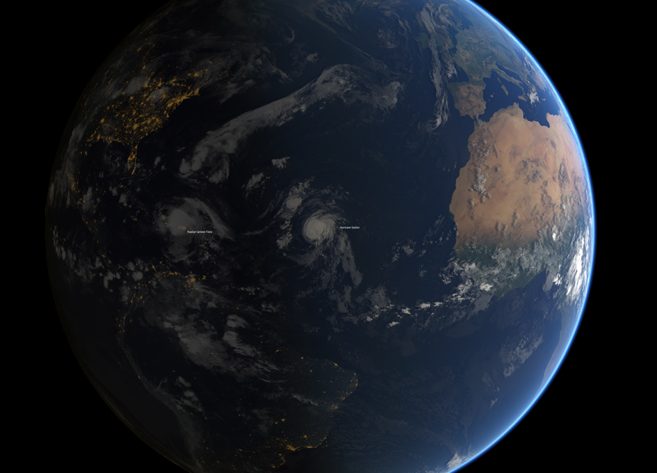 Hurricane Gaston Seen From Space