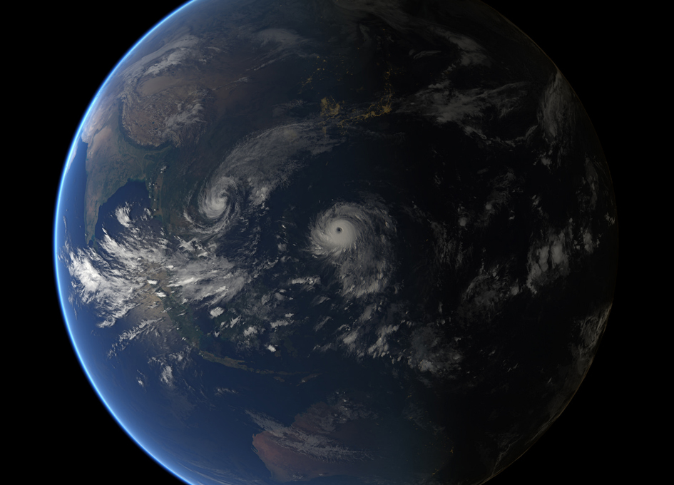 Super Typhoon Haima Seen From Orbit