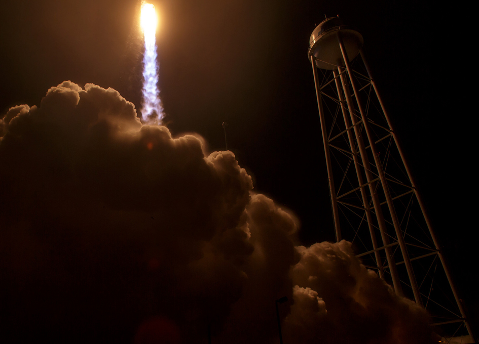 Looking Up As Antares Launches