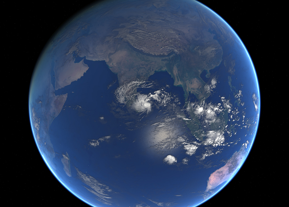 Tropical Cyclone Four Seen From Space