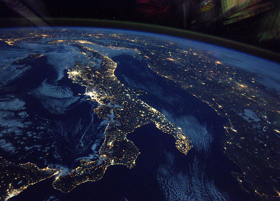 Orbital View of Italy at Night