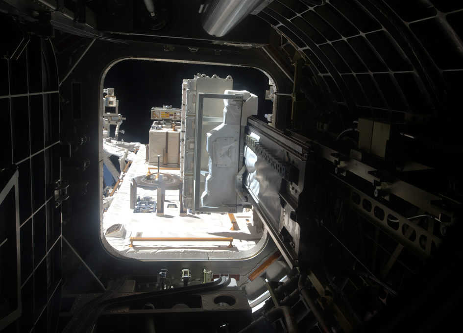 Looking Out Of Kibo's Airlock