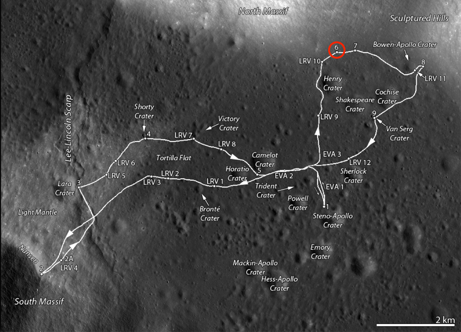 location moon map landing site apollo 12 - photo #38