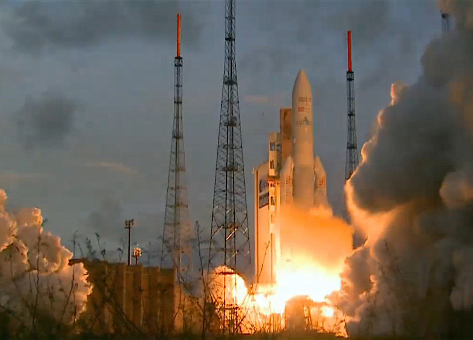 Ariane 5 Launches Heaviest Commercial Cargo Yet