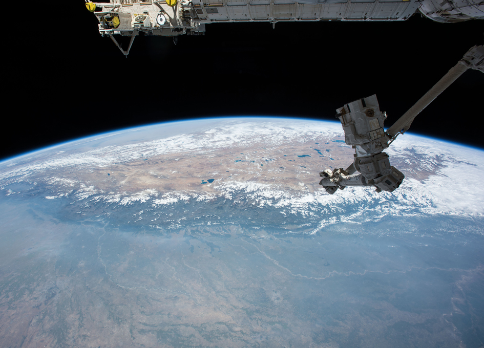 Himalayas and Tibetan Plateau As Seen From Orbit