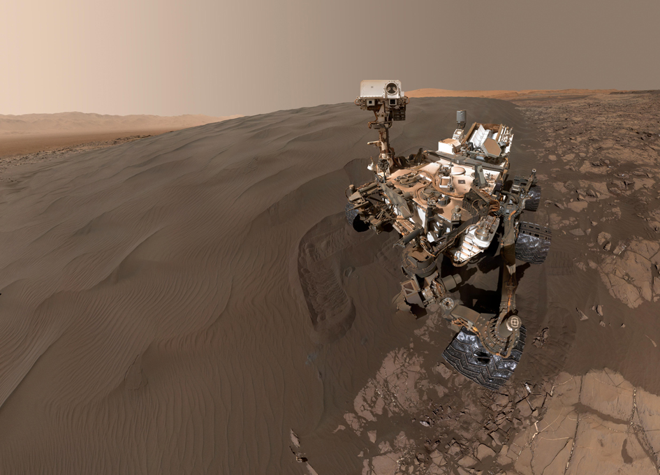 Mars Curiosity Rover Selfie With a Sand Dune