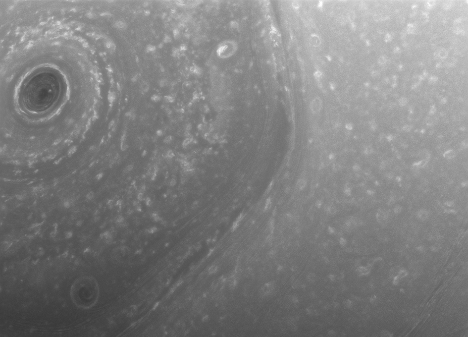 Cassini Beams Back First Images from New Orbit