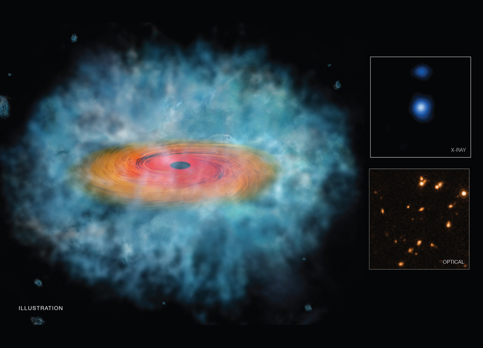 Clues For How Giant Black Holes Formed So Quickly