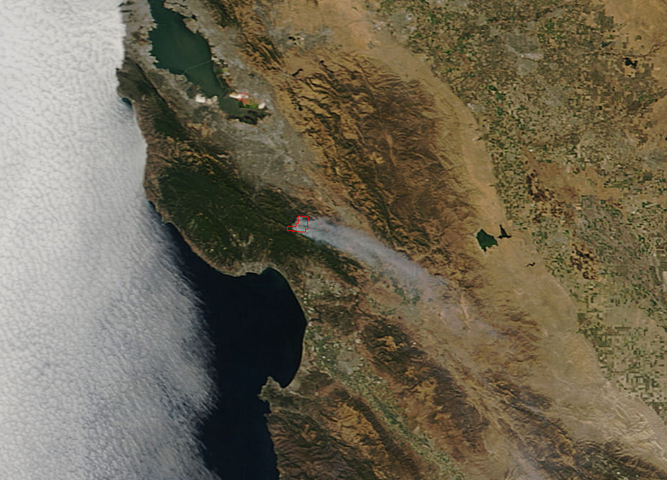 California S Loma Fire Spreads As Seen From Space Spaceref