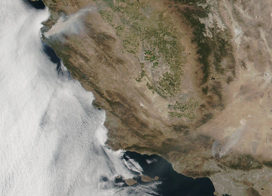 Orbital View Of California Fires