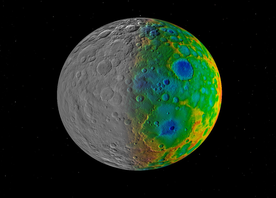 Looking For Large Craters on Ceres