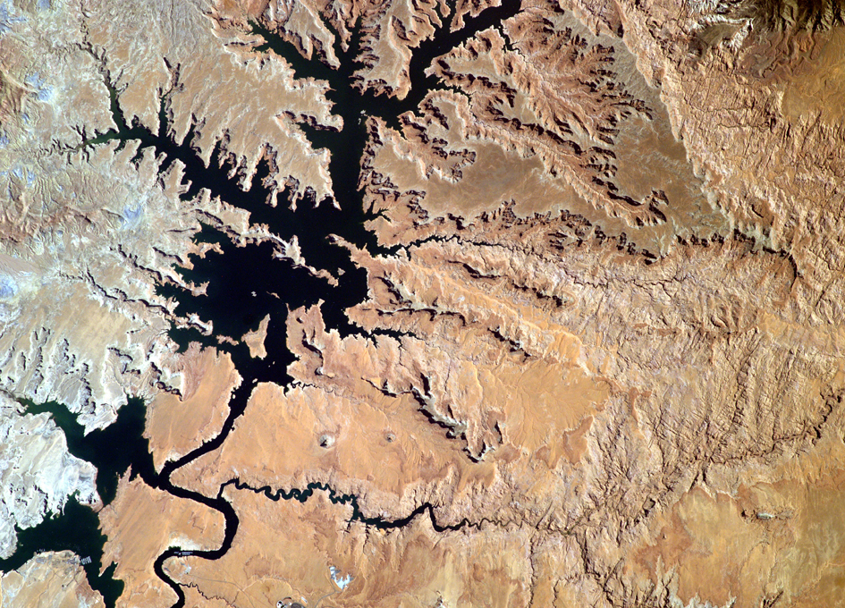 Lake Powell As Seen From Orbit By EarthKAM