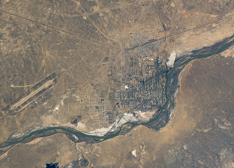 Baikonur, Kazakhstan As Seen From Orbit