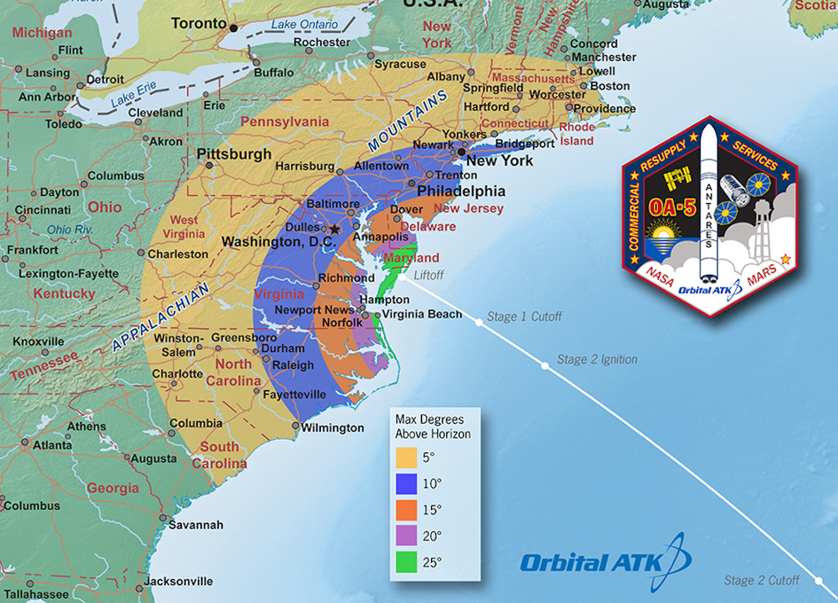 Orbital ATK Prepares to Launch Antares From Wallops