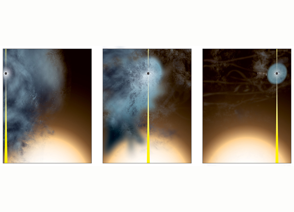 Galactic clash strips stars from supermassive black hole