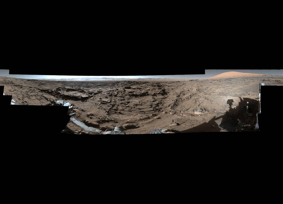 Full-Circle Vista from Naukluft Plateau on Mars