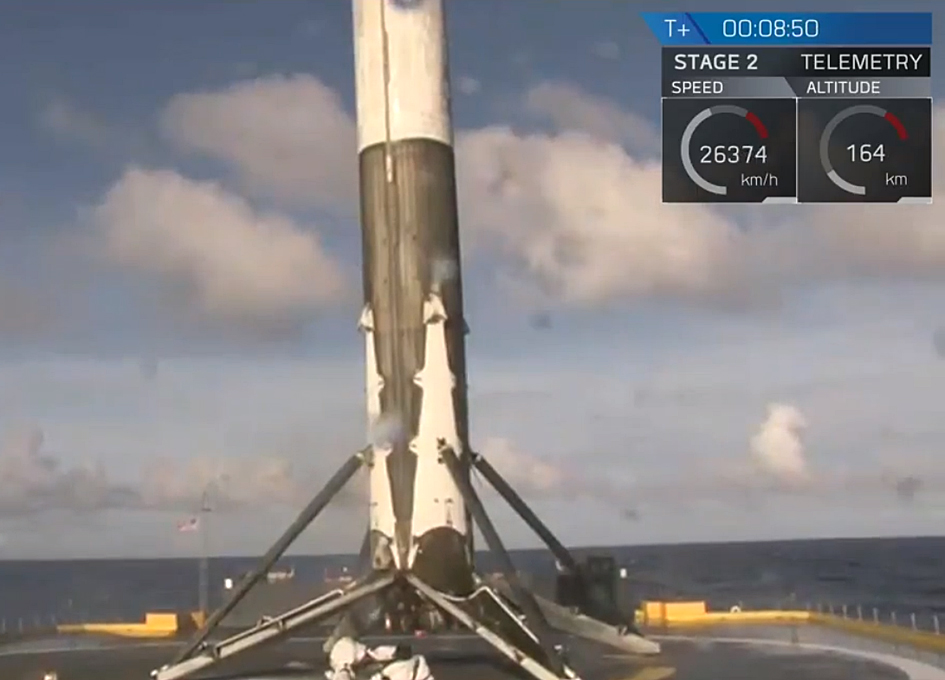 SpaceX Lands On A Drone Ship For A Third Time