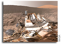 Full-Circle Panorama Beside Namib Dune on Mars