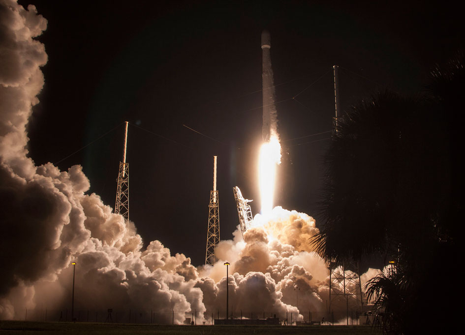 SpaceX Launches Japanese Satellite JCSAT-16 and Returns ...