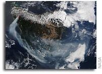 Terra Satellite Tracks Fires on Tasmania