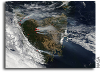 Eighty Bushfires Ignite Parts of Tasmania