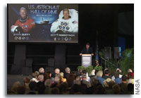Duffy and Parazynski Inducted into the U.S. Astronaut Hall of Fame