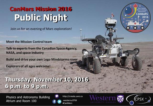 CanMars Mission Public Night, Western University