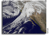 Storms Affecting the Western U.S. Seen From Space