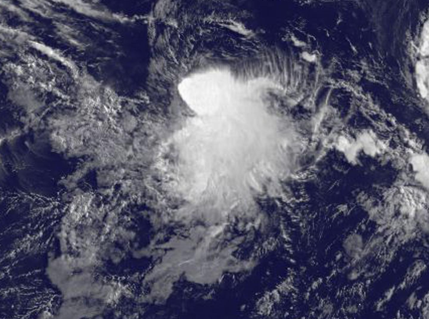 Satellite image captures development of Tropical Storm Depression 8E