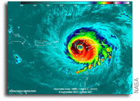 Suomi NPP Observes Barbuda As Hurricane Irma Attacked