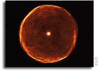 Aging Star Blows Off Smoky Bubble