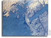 Aswan Dam Seen From Orbit